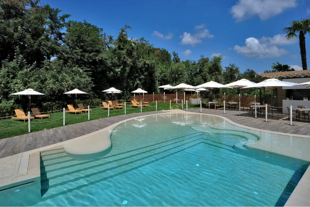 Summertime At The Pool In Bologna Relais Bellaria Hotel